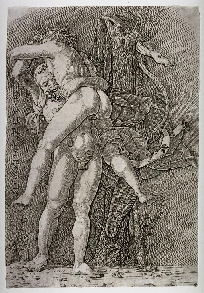Andrea Mantegna, Hercules and Antaeus, late 15th century