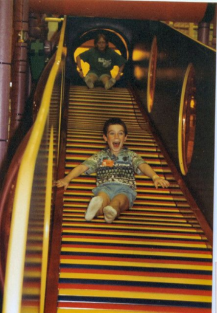50 Things That  Look Just Like Your Childhood. THE slide at Discovery Zone. OMG this is all the best.