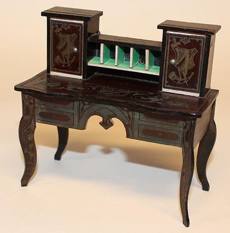 Skrivbord Biedermeier Waltershausen från Tyskland ca 1870-80 på
