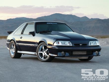 1992 Ford Fox Mustang GT - Hidden Message: Don't let the four-lug wheels fool you -- there's a bunch of torque hiding behind those drum brakes.