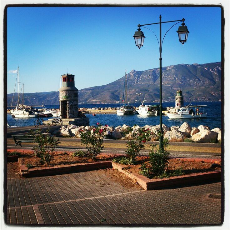 Sea and mountain , Korinthos, Greece