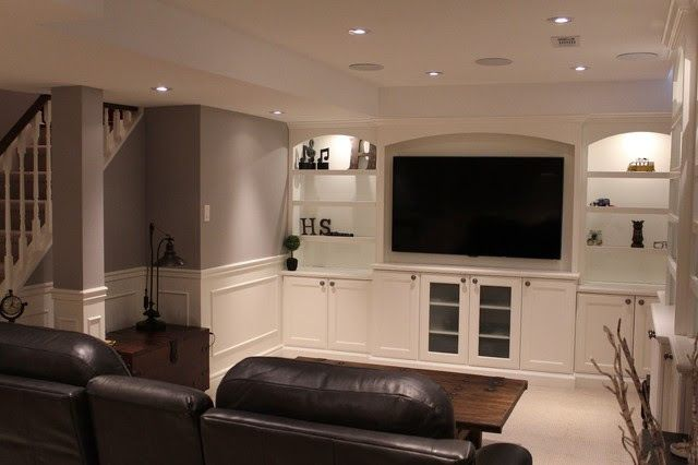Love the colors for the basement with the wainscoting