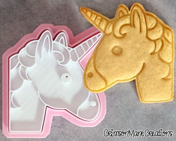 Unicorn Emoji Cookie Cutter by CrimsonManeCreations on Etsy