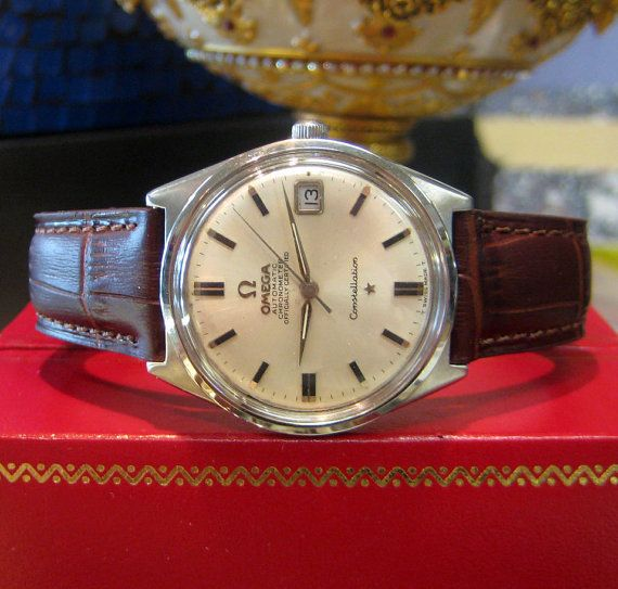 Mens Vintage OMEGA Constellation Automatic Chronometer Officially Certified Stainless Steel Watch on Etsy, 727,29 €