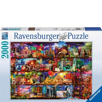 Ravensburger Rburg - World Of Books Puzzle 2000Pc $43.00