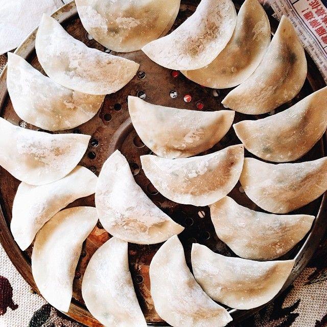 Homemade dumplings by @denisedslu_
