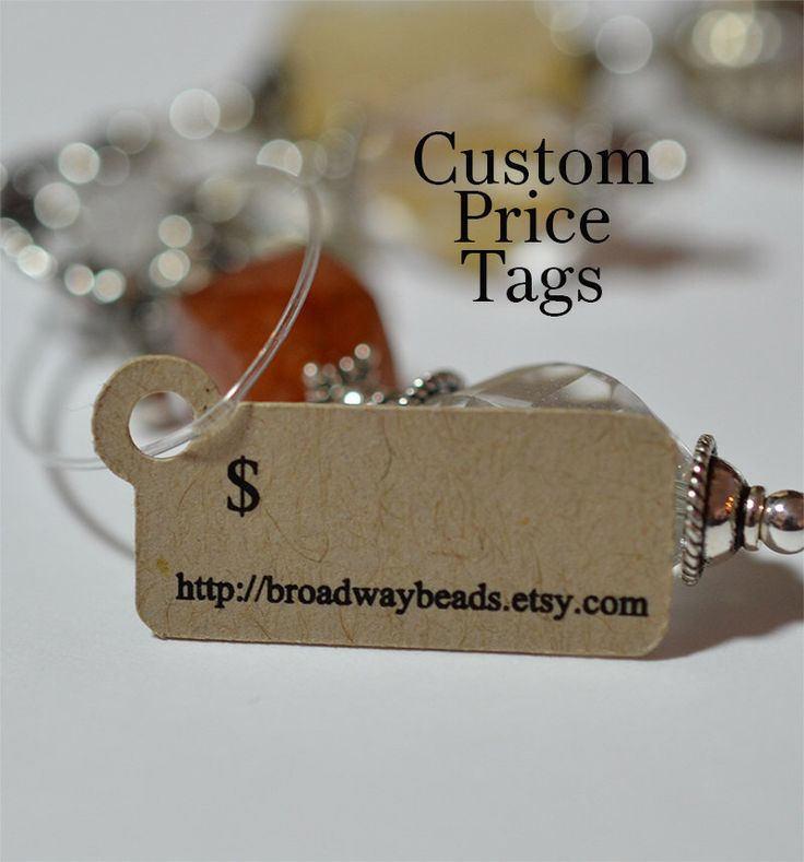 Price Tags Hang For Jewelry Products Customized 00051a By Homegrowngems On Etsy Https Www Listing 62243542