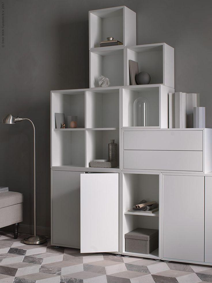 die besten 25 ikea eket ideen auf pinterest ikea wand dekoration niedrige regale und ikea tv. Black Bedroom Furniture Sets. Home Design Ideas