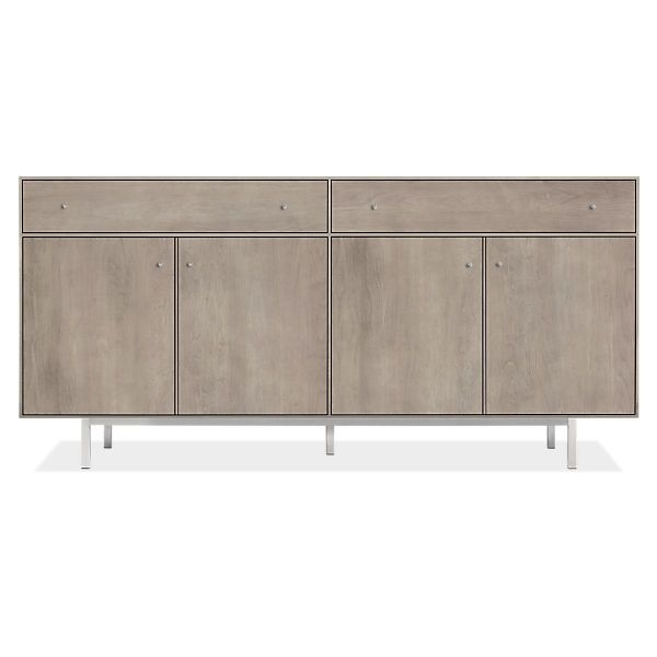 Room & Board - Hudson 72w 16d 34h Storage Cabinet with Steel Base