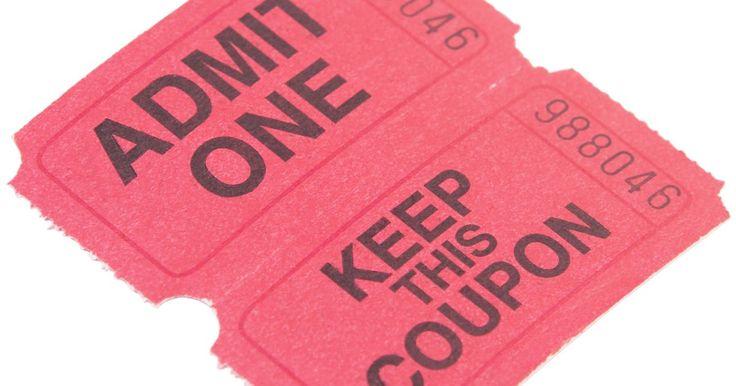 Cómo hacer tus propios boletos para un evento de recaudación de fondos. Hacer tus propios boletos para una recaudación de fondos no es tan difícil como puede parecer. Puedes diseñar los boletos en tu computadora, imprimirlos en casa o en el trabajo y hacer boletos diseñados especialmente para la ocasión. Tómate un momento para crear un logo para los boletos si estás dispuesto a ponerte el sombrero de diseñador gráfico ...