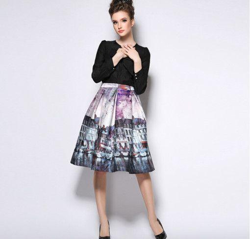Walking London Streets Skirt #Colorize #ColorizeFashion