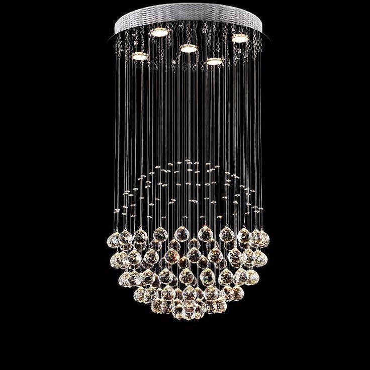 209.69$  Buy now - http://alin3o.worldwells.pw/go.php?t=32678429110 - Modern Glass Crystal Pendant Light Meteor Rain Home Indoor Lighting Living Room Bedroom Stair Droplight Lamp AC110-240V PLL-501 209.69$