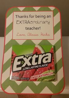 A Southern Bell's Guide to DIY Projects and Couponing!: Extra Gum Teacher Appreciation Tag