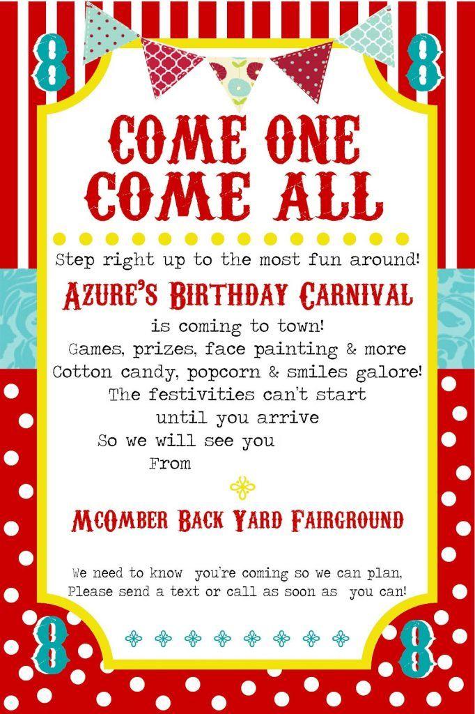 school carnival flyer template