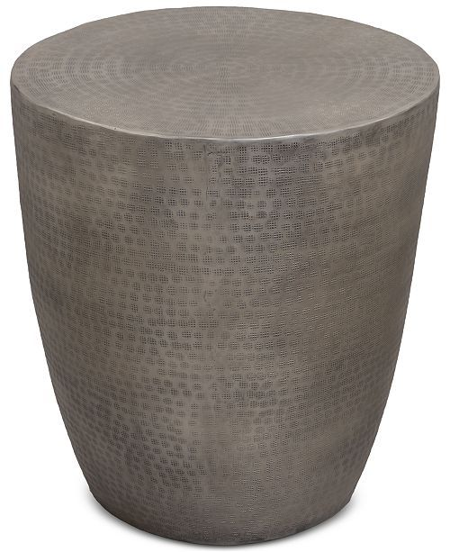 another chance b4cca 61211 Nova Metal Drum End Table - Pewter | Arocha basement in 2019 ...