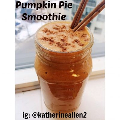 Ripped Recipes - Healthy Pumpkin Pie Smoothie - This tasted like a slice of pumpkin pie! It's low in fat and high in protein, as well as delicious and tasty just like the dessert we all know and love