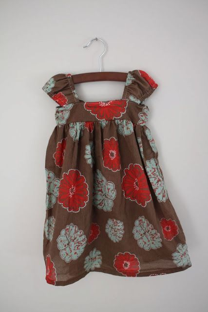Dress made from an adult shirt. Cute blog with some cool ideas.