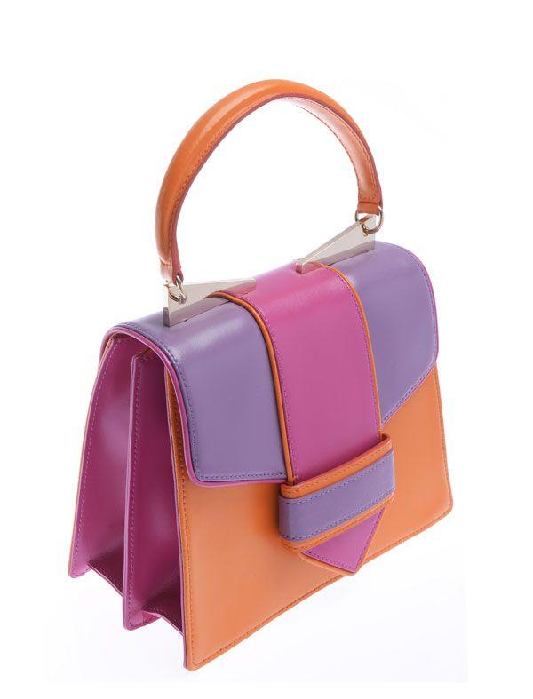 Tote Bag On Sale, Orange, Leather, 2017, one size Sara Battaglia