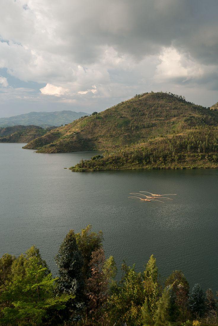 Lake Kivu. Kibuye, Rwanda