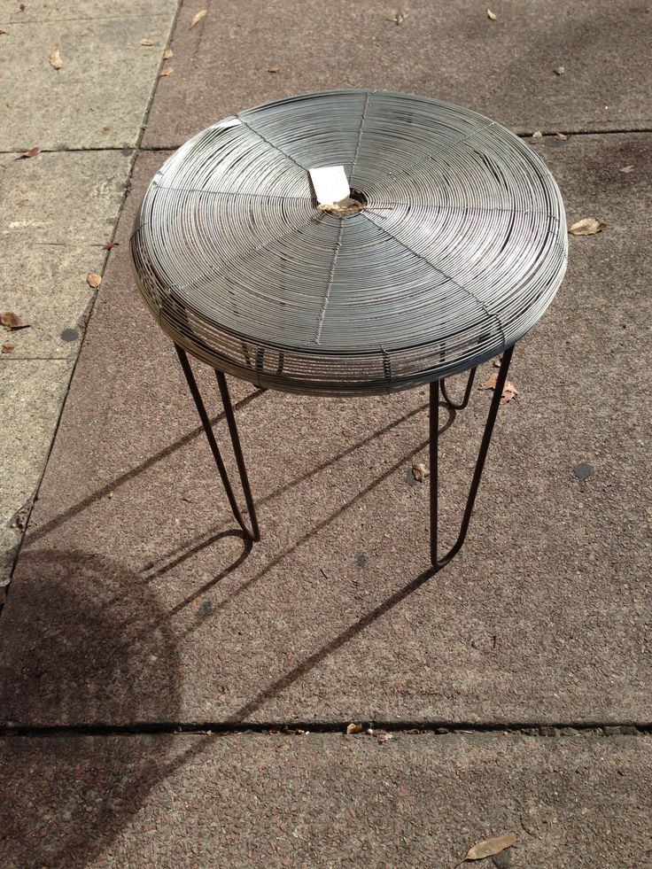 This is an interesting industrial wire and steel stool.  #industrial #stool #itsmeagain