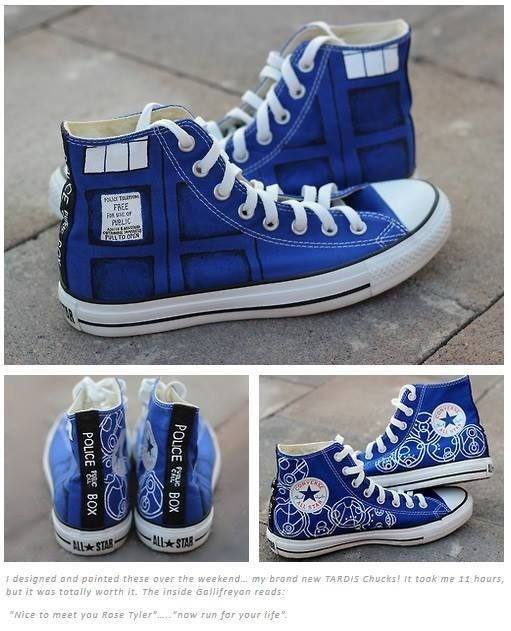 Doctor Who Shoes, I could have club kids bring shoes and we could create Doctor Who themed shoes