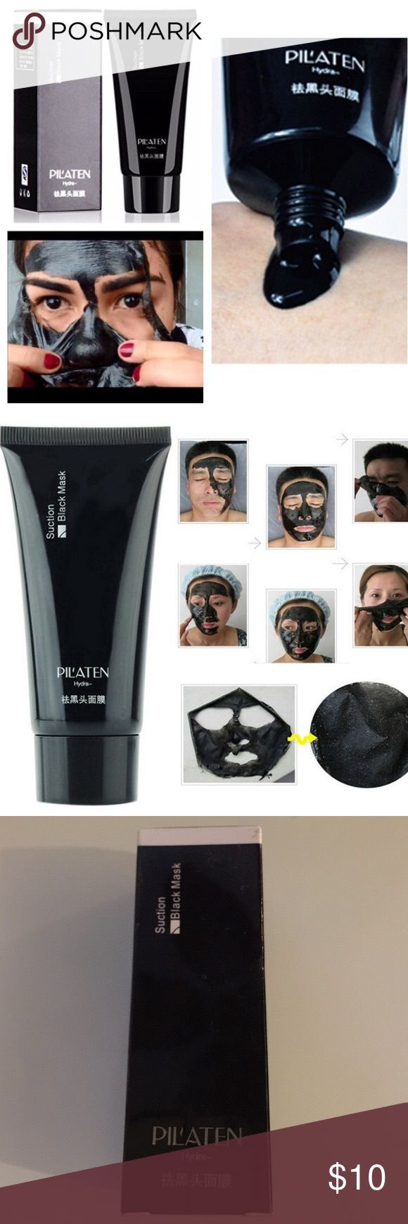 NEW! Pilaten Blackhead Acne Cleansing Mask Cream RESEALABLE!  REMOVES GUNK OUT OF PORES WITH EVERY USE!  FOR ALL SKIN TYPES , RECOMMENDED USE FEW TIMES A WEEK TO SEE CHANGES  ----HOW TO USE:--  1. Wash your face with warm/hot water to open your pores. (After hot shower is recommended)  2. Dry Face  3. Apply the face mask on your face and/or nose.   ( A thick layer helps it peel off evenly)  4. Wait till the mask dries ( About 15-20 mins)  5. Peel it off DESCRIPTION: - Effective in removing…