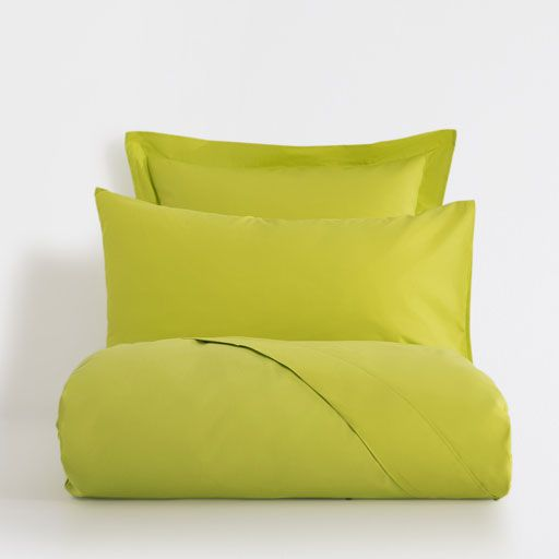 Image of the product Basic light lime percale bed linen