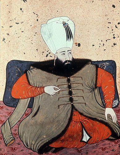 Sultan Ibrahim, 1640-1648, portrait from nineteenth century manuscript no 3109, Topkapi Palace Museum, Istanbul, Turkey