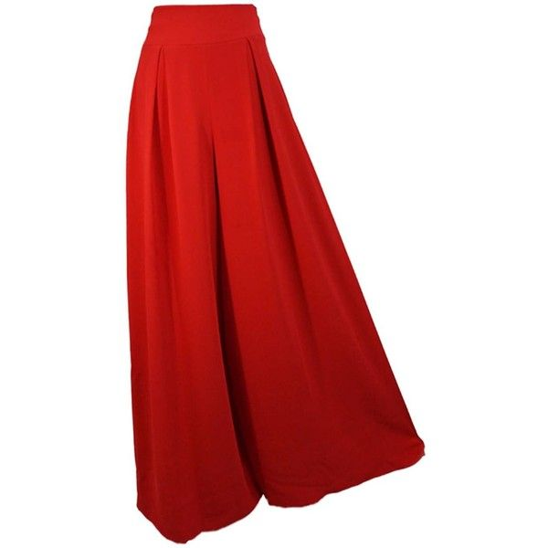 Lauren Lynn London - The Millie Palazzo Pants Flared ($230) ❤ liked on Polyvore featuring pants, red pants, formal pants, flare trousers, red flare pants and red trousers