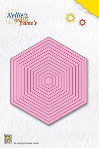 Nellie Snellen Multi Frames Dies Cutting Stencil - Straight Hexagon - MFD059