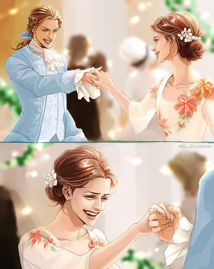 Adam and Belle are laughter and dance