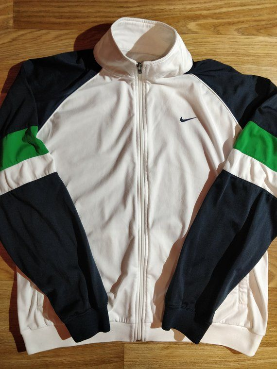 877d8f57d0 Nike 90's Vintage Mens Tracksuit Top Jacket White in 2019 | Mens ...