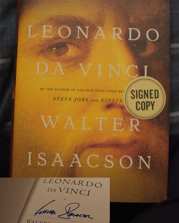 2017-12-22 One of the holiday deals at the retail job was bestsellers at half off. So despite the fact I own this in an advanced reading copy I bought myself a signed copy of Walter Isaacson's Leonardo Da Vinci. The signature is legible and I'll read the other copy someday! #book #readingrules #books