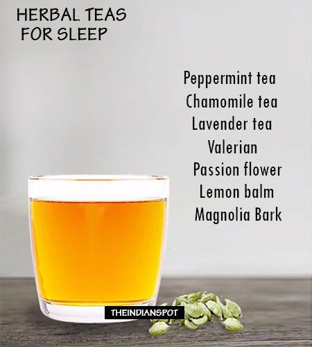 A drink such as chamomile tea is a great way to help some stay clam and get some sleep.