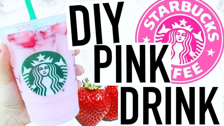 DIY Starbucks Pink Drink! Coffee Free Refresher!