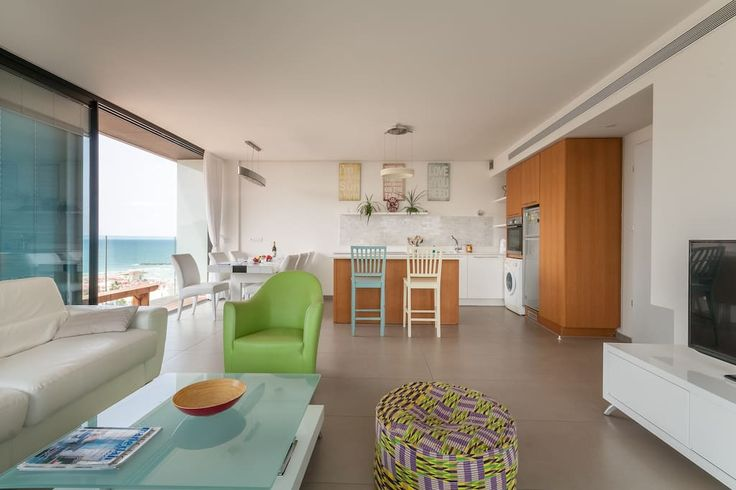 Check out this awesome listing on Airbnb: Magical flat front of beach HaYarkon street - Condominiums for Rent in Tel Aviv-Yafo