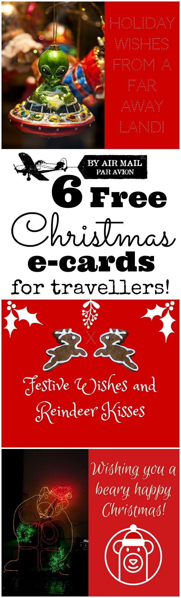 6 Free Christmas E-Cards for Travellers