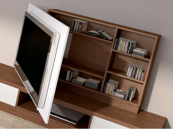 Mueble para TV con tapa rebatible