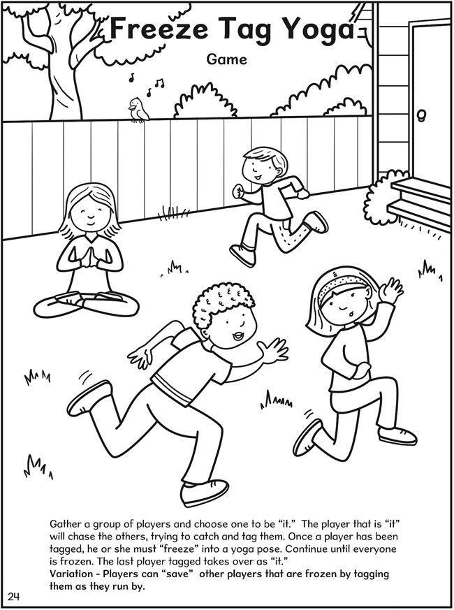 yoga coloring pages for kids - photo#20