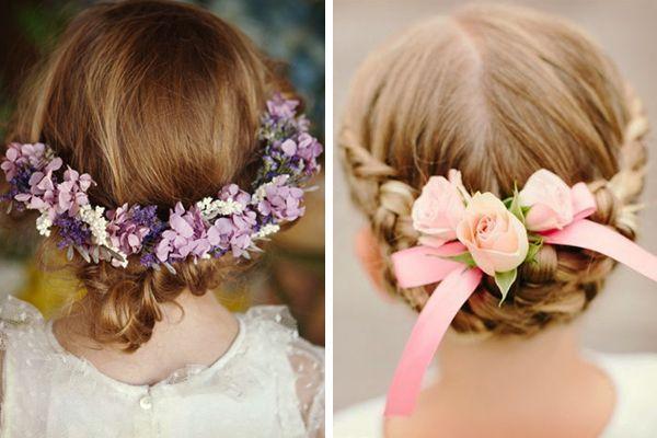 Peinados para las pajes de la boda
