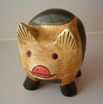 houten varken te koop uit Fräncis' VarkensCollectie voor 3,98 euro