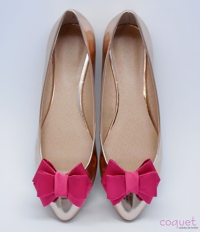 shoe clips with pink 3D bows  https://www.facebook.com/coquet.art