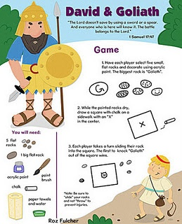 David and Goliath game: Church Ideas, David And Goliath Bible Games, Children Church, Sunday Schools, David Goliath, Church Kids, Kids Church, Goliath Games, Children Ministry