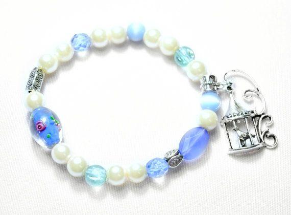 Boho Bracelet Beaded bracelet Valentines Gift Blue by Soulbracelet