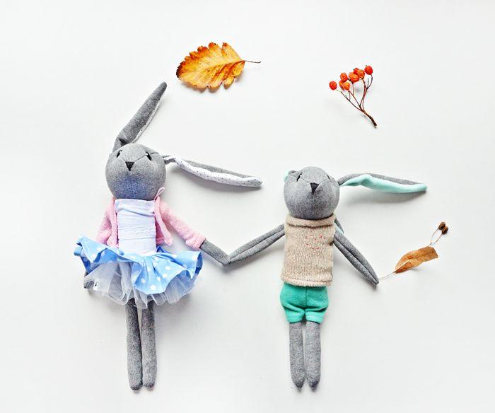 Królik Franio w Lady Stump - oryginalne zabawki handmade na DaWanda.com