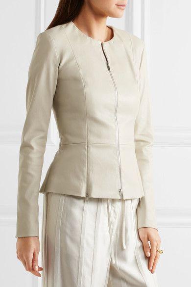 The Row - Anasta Leather Jacket - Ecru - US2
