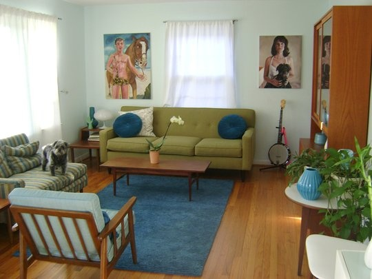 Love these colors!: Colors Combos, Couch Colors, Green Couch, Clean, Living Spaces, Chairs, Living Room, Anne Arbors Michigan, Interiors Livingroom