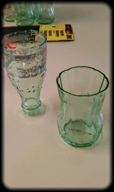Turning glass Coke bottles into tumblers: Life Lessons Learning, Glasses Coke Bottle, Upcycled Glasses, Cups, Diy Crafts, Cute Glasses, Glass Coke Bottles, Upcycling, Life Lessons Learned