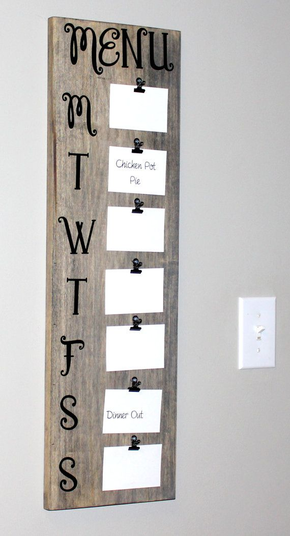 Rustic Menu Board 30 Tall Menu Board Meal by peachykeenday on Etsy