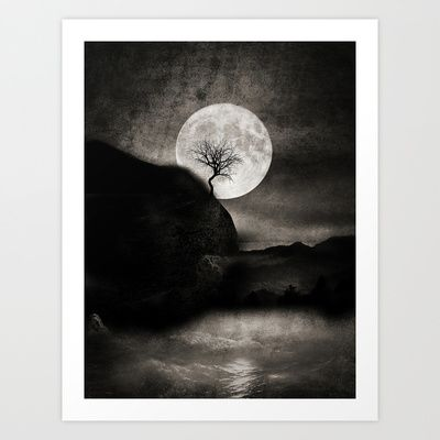 The Moon and the Tree. Art Print by Viviana Gonzalez - $19.95
